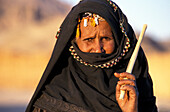 Portrait of Bedouin woman, Hurghada, Egypt