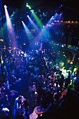 Crowds of people dancing in Tito's Discotheque, Palma, Majorca, Spain