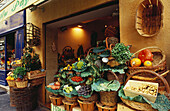 Display in front of a greengrocery, Aix-en-Provence, Bouches du Rhone, Provence, France, Europe