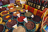 Spices at the market, Aix-en-Provence, Bouches-du-Rhone, Provence, France, Europe