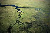 Aerial view, Esteros del Iberá, Iberá Wetlands, Rio Paraná, Corrientes, Argentina