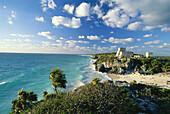 Maya walled city, Tulum, Quintana Roo, Halbinsel Yucatan, Mexico