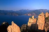 Rocks, erosion, coast, Les Calanche, near Porto, west coast Corsica, France