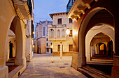Square with archway, old town, Ciutadella, Menorca, Minorca, Balearic Islands, Spain