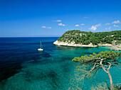 Cala Mitjana, bay near Cala Galdana, Menorca, Minorca, Balearic Islands, Mediterranean Sea, Spain