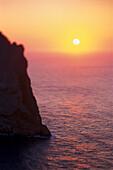 Sundown, Cap Formentor, Mallorca Balearic Isl., Spain