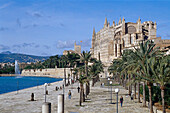 Parc de la Mar, La Séu, Palma cathedral, Cathedral of Santa Maria of Palma, Palma de Mallorca Mallorca, Spain