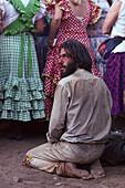 Praying pilgrim, Andalusia, Spain