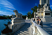 Monument for Alfonso XII, Retiro Park, Madrid, Spain