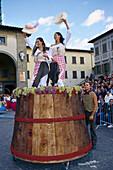 Dancing women, Vine festival Impruneta, Chianti, Tuscany, Italy