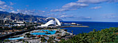 open-air swimming Pool and Auditorium, Sta Cruz de Tenerife, Tenerife, Canary Islands, Spain