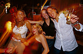 Group of young people partying in Tito' s Palace, Discotheque, Palma, Mallorca Spain