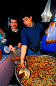 Olivenverkauf, Marktstand, Spain Canary Islands