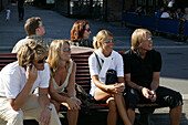 People, Aker Brygge, Oslo, Norway, young norwegians
