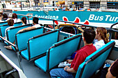 Sightseeing, barcelona bus tourist, barcelona, spain