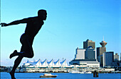 Harry Winston Jerome Statue, a Canadian track and field runner, Canada Place, Vancouver, British Columbia, Canada
