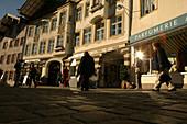 Pedestrian area, Marktgasse, Bad Toelz, Bayern, Deutschland
