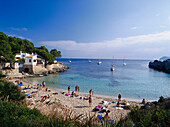 Sandy beach at Cala Ratjada, Majorca, Spain