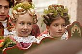 Girls wearing traditional costumes, Bad Toelz, Bavaria, Germany
