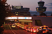 Taxis infront of tegel airport, berlin, germany