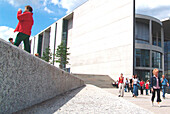 Tourists in the government quarter, berlin, germany