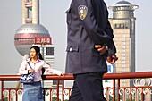 Bund and Oriental Pearl Tower, Shanghai, China