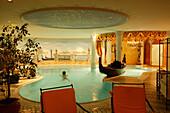 Indoor swimming pool of Central Spa Hotel, Soelden, Oetztal, Austria