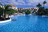 Poollandschaft, Hotel Santiago III, Playa de las Americas, Teneriffa Kanarische Inseln, Spanien