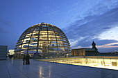 Glass cupola of the Reichstag building, Berlin, Germany