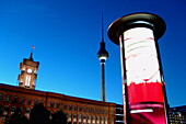 The Red City Hall and televison tower, Berlin, Germany