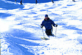 Skifahrer in Buckelpiste, Carving, Obergurgl, Oetztal Sports