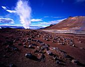 Geothermisches Feld Namaskard suedlich, des Myvatn Island