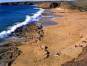 Playa Mujeres b. Playa Blanca, Lanzarote Kanarische Insel, Spanien