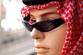 Mannequin wearing sunglasses at Deira, Dubai, UAE, United Arab Emirates, Middle East, Asia