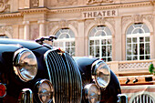 Vintage car in front of the theatre, Baden-Baden, Baden-Wuerttemberg, Germany, Europe