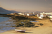 Fishing boat, Beach, Caleta del Sebo, La Graciosa, Canary Islands, Spain