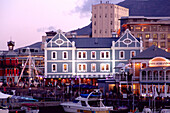 The shopping centre Victoria and Alfred Waterfront in the evening, Cape Town, South Africa, Africa