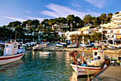 Fishing boats, fishing port, Llafranc, Costa Brava, Province of Girona, Catalonia, Spain