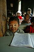 school at Baga Yar Monastery, built of teak in 1834, Ava, Myanmar