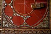 Detail of an embroidery work, Nahaufnahme, Stickerei, Tapisserie, Feinarbeit an einem Wandteppich