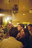 People at a Tapas bar, Madrid, Spain, Europe