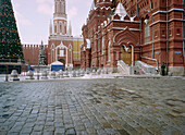Red Square with christmas tree, Moscow, Russia