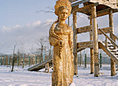 Wooden sculpture in Izmailovski Park, Moscow Russia