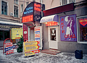 Sex shop, Moscow Russia