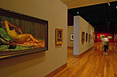 Interior view of an art gallery at Christchurch, South Island, New Zealand, Oceania