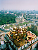 View from Academy of Sciences at the city, Moscow, Russia