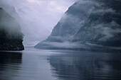 Mist on Doubtful Sound, Fiordland NP, Morning mist on Doubtful Sound, South Island New Zealand