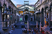 Cafe Peristyle, Diocletia's Palace, Split, Dalmatia Croatia