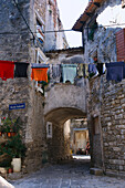 Alleys in Buje, Istria Croatia