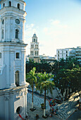 Townhall tower and cathedral, Veracruz Mexico